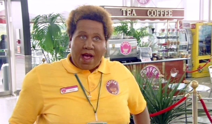 Matt Lucas in blackface for BBC's 'Come Fly With Me.