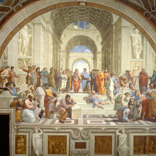 the school of Athens by raffaello Sanzio